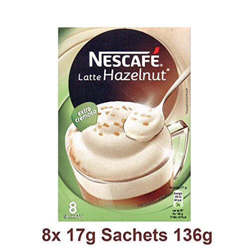 NESCAFÉ Latte Haselnuss EXTRA CREAMY 8 Sachets 136g