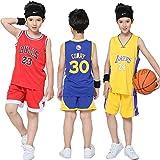 PANGOIE Kinder Madchen Basketball Anzug Jersey Basketballuniform Top & Shorts -