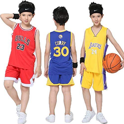 Hanbao Kinder Madchen NBA Lakers #24 Kobe Bryant Basketballanzug Basketball Trikots Jersey Set für Kid Jungen Mädchen