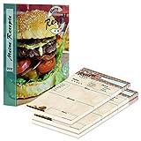 PRICARO Archivador de recetas (A4), diseño de hamburguesas