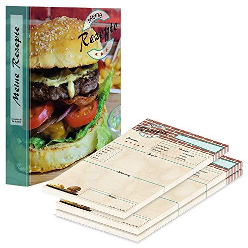 """Folder z przepisami PRICARO z blokiem przepisów """"American Burger"""", A4"""
