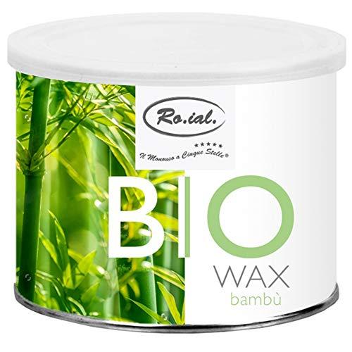 Ro.ial Bio Warmwachs/Enthaarungswachs Dose für Haarentfernung - mit Bio Bambus-Extrakte ohne Mineralöl, Silikone, Parabene, künstliche Duftstoffe und GVO - 400 ml !