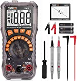 Multimeter, DM10 Electrical Tester 2000 Counts Auto-Ranging Amp Volt Ohm Meter Diode and Continuity Tester Voltage Detector with LCD Display and Backlight