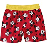 Mickey Mouse Baby Boys Swim Trunks (Red, 18 Months)