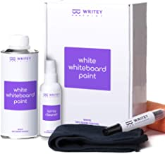 Whiteboard Paint, Glossy White 50 Square feet, Patented No Mixing Formula, Includes Paint Roller, Marker, Whiteboard Renew Spray Cleaner, Eraser