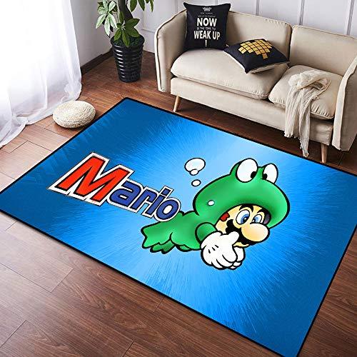 Coobal Super Mar-io Odyssey - Alfombra grande para suelo de yoga, alfombra grande para niños, sala de juegos, dormitorio, 3 x 5 pies (90 x 150 cm)