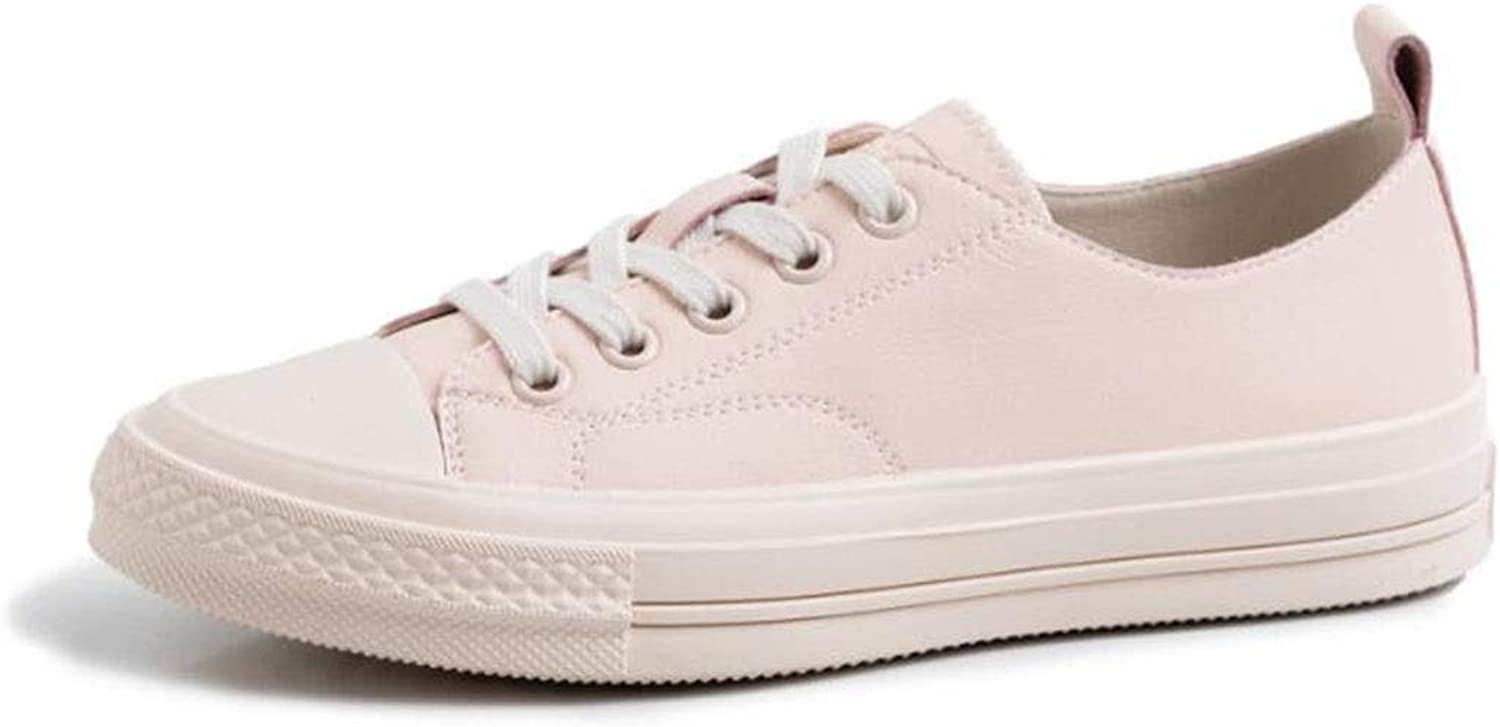Women's Casual Canvas shoes Solid colors Low Top Lace Up Flat Fashion Sneakers,Women's Canvas shoes Casual Sneakers Low Cut Lace Up Fashion Comfortable Walking Flats (color   Pink, Size   6 US)