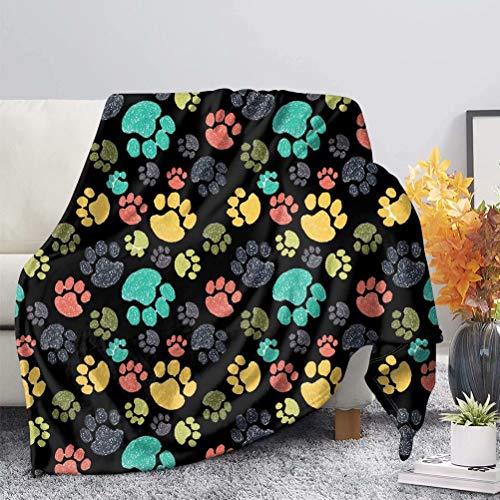 chaqlin Manta colorida de 177,8 x 137,1 cm, suave y cálida, de forro polar, para cama, cama, sofá, viajes, niños