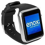 Unbekannt Enox SWP22 Silber Smartwatch Smartphone Handyuhr SIM Karten Einsatz 1,54' Farb-Display Fitness-Features Handy Bluetooth Uhr zum Verbinden mit Android und iOS Geräte