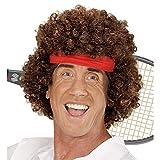 Widmann 06745 Perücke Tennisspieler mit Haarband, Mehrfarbig