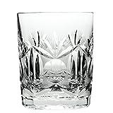 Cristal de Bohemia Lady Vasos de Whisky Tallados, Cristal, 9x9x11 cm, 6 Unidades