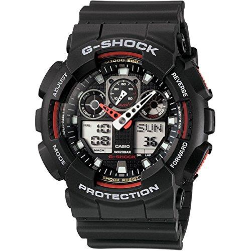 カシオ CASIO G-SHOCK Gショック ジーショック 腕時計 メンズ GA-100-1A4DR ブラック×レッド [時計] 逆輸入品 [並行輸入品]
