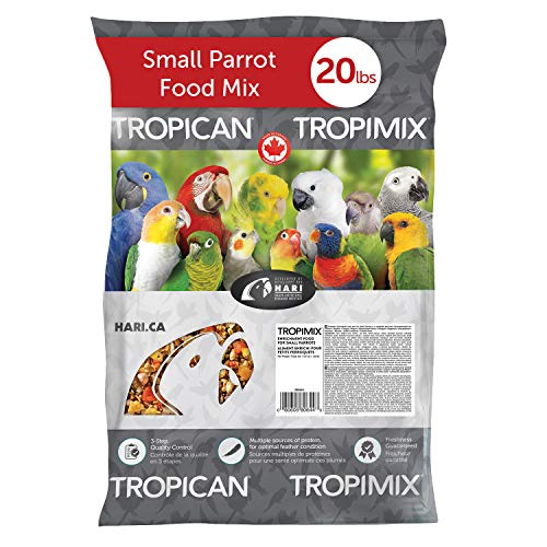 Tropimix Small Parrot Food, Healthy Blend of Grains, Legumes, Fruits, Nuts and Vegetables, 20 lb Bag