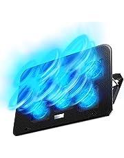 【2019年最新の 6つ冷却ファン 5段階調整 強冷 超静音】 ノートパソコン 冷却パッド 冷却台 ノートPCクーラー クール 超静音 US