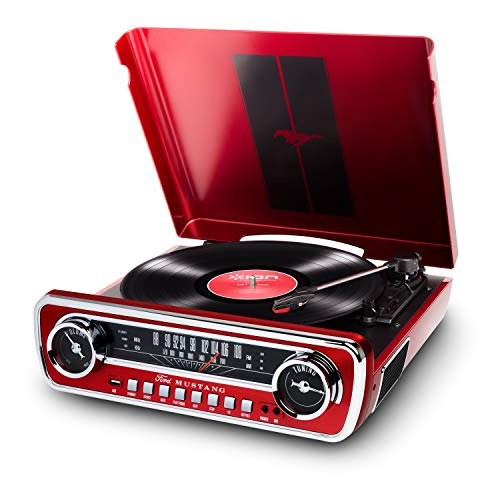 ION Mustang LP – 4-in-1 Vinyl Record Player/Turntable with Built In Speakers