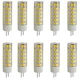 Aoxdi 10X Ampoules LED G4 7W, Blanc Chaud, 75 SMD 2835 Ampoule LED Lampes LED, AC220-240V