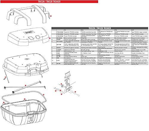 Givi Z3220R Kofferdichtung für Trekker TRK52, Schwarz, 40