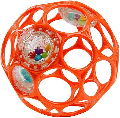 Bright Starts Oball Rattle Easy Grasp Toy Red Ages Newborn Plus product image