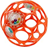 Bright Starts Oball Rattle Easy-Grasp Toy - Red, Ages Newborn Plus