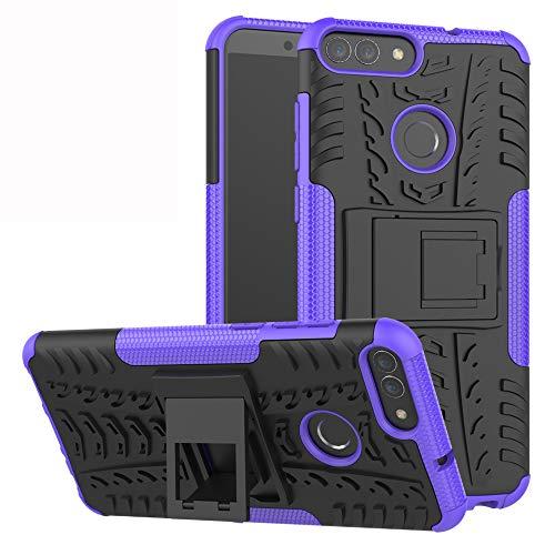 Labanema LG K40 / K12 Plus Hülle, Abdeckung Cover schutzhülle Tough Strong Rugged Shock Proof Heavy Duty Hülle Für LG K40 / K12 Plus(mit 4in1 Geschenk verpackt) - Violett