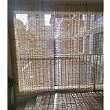 Persianas De Bambú Exteriores,Cortinas De Caña Protector Solar para Ventanas/Puertas,persianas Enrollables Oscurecimiento 60%,estores Decorativas Impermeables/Transpirables,/-50x120cm/20 * 47in