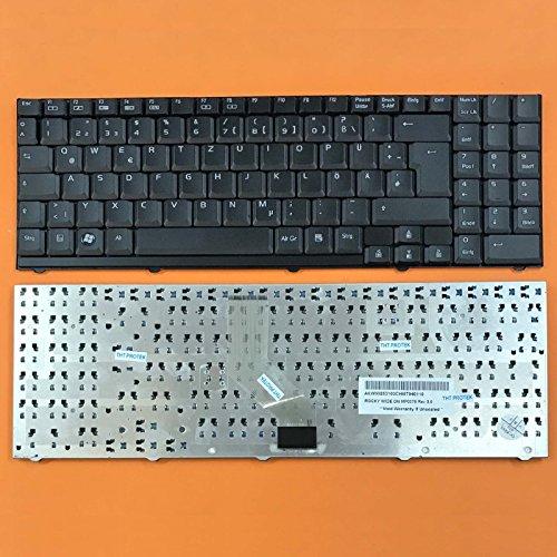 kompatibel für Medion Akoya P6618, P6619 Tastatur - Farbe: Schwarz - Deutsches Tastaturlayout