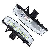 Luces de matrícula de Coche 2pcs / Set LED LED License Lights Compatible con Toyota Camry/Aurion Avensis Verso Echo Prius Number Lamp Durable (Emitting Color : White)