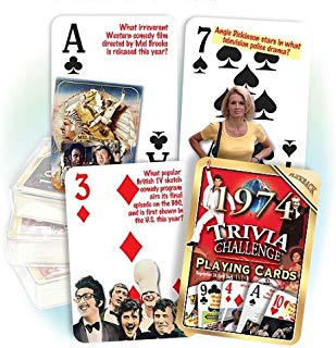 Flickback Media, Inc. 1974 Trivia Playing Cards: Great Birthday or Anniversary Idea