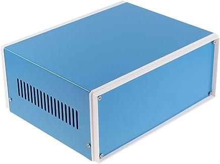 sourcingmap® 230mmx190mmx110mm Blu Metallo Alloggiamento Progetto Case FAI DA TE Scatola Deriva