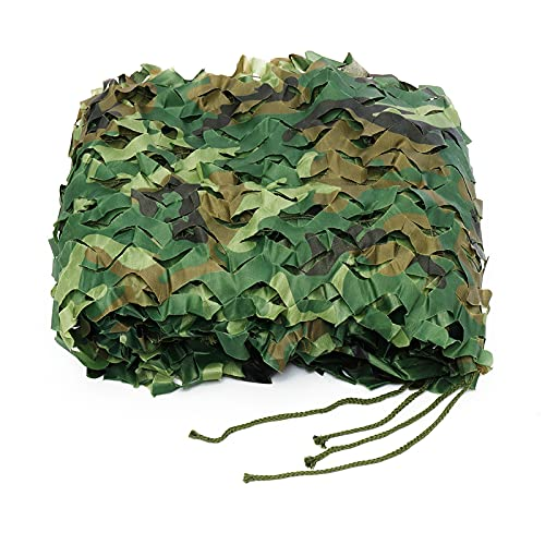 FRJKF Camuflaje Red De Camuflaje, Woodland Camuflaje, Red De Camuflaje, Mallas De Protección, Ejército Combate Militar Táctico para Caza Al Aire Libre Sombra Proteger del Viento(Size:3x3M/9.8x9.8ft)