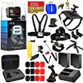 GoPro CHDHX-801 HERO8 Hero 8 Black All in 1 MEGA Accessory Bundle for All Occasions with 2X Extra Battery and Charger, Extreme 64GB, Head and Chest Strap, Dog Harness, Selfie Stick and Much More from Pixel Hub
