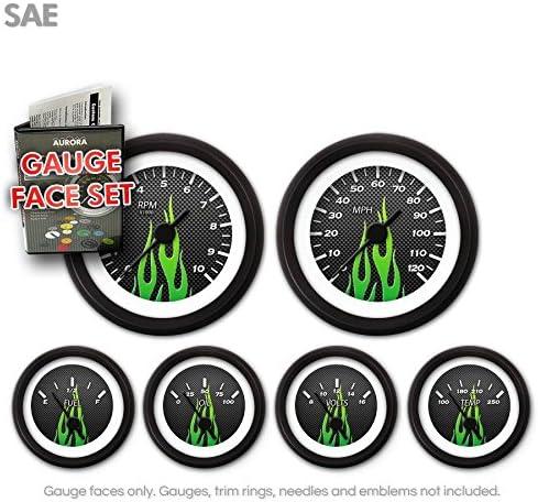 Max 79% OFF Aurora Instruments GARFE98 Carbon Fiber Set Green Tucson Mall Face Gauge