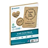 """Printworks Kraft Cover Stock, Heavyweight, Cover Stock, 8.5"""" x 11"""", 40 Sheets, Perfect for Crafts, Cards, Gifts & More (00691)…"""