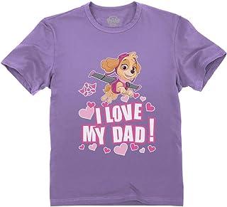 Paw Patrol Skye - I Love My Dad - Father's Day Toddler Kids T-Shirt