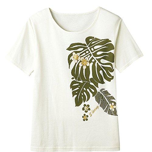 【フラダンス衣装】モンステラTシャツ TK1621-4-2530 ▼Tシャツ 半袖 モンステラ 綿100% コットン100%