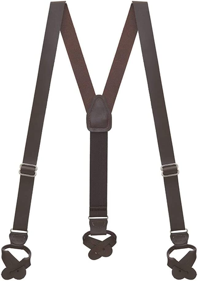 Men's Vintage Style Suspenders Braces SuspenderStore Mens Leather Suspenders - 1-Inch Wide - Button  AT vintagedancer.com