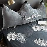 FEICHAIQAZ Nordic cojín de Cama cabecero Suave Paquete Doble Respaldo Grande Cama Almohada Corona Creatividad, Estilo 14,180X80CM
