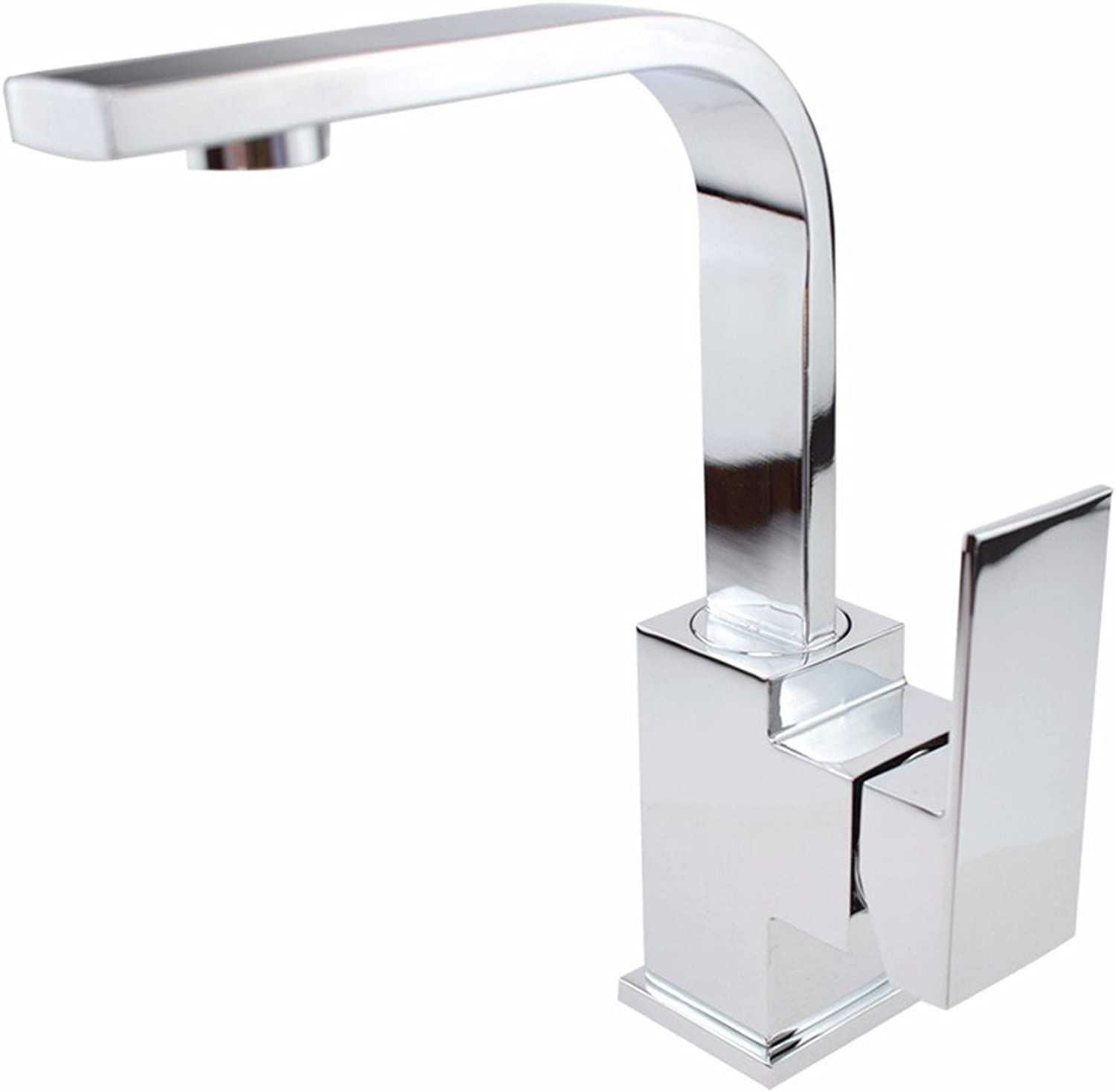 Hlluya Professional Sink Mixer Tap Kitchen Faucet Bathroom sinks square single hole brass body redation faucet basin wash basin basin and cold water taps, water faucet light panel