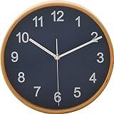 不二貿易プライウッド掛時計 Φ22cm NV ネイビー 85361 1個 不二貿易