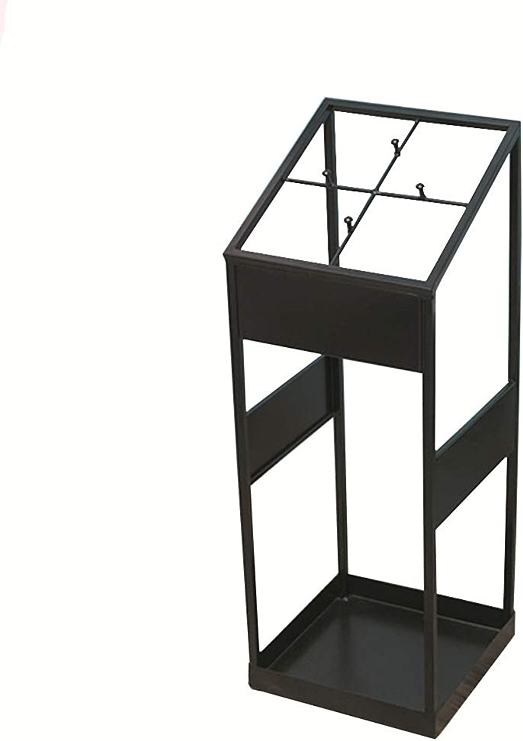 Umbrella Stand Home Black Wrought Iron Square Umbrella Storage for The Entrance Hall Hotel-etc