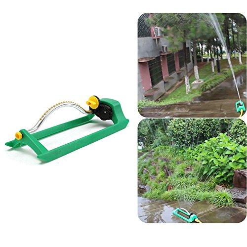 Nobran Sprinkler, oszillierender Rasensprenger Bewässerung Gartenschlauch Wasserdurchfluss mit Anschluss, Kunststoff ABS Basis, Aluminiumrohr Wasserschlauch