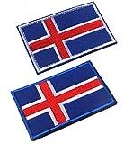 2pcs Iceland Flag...image