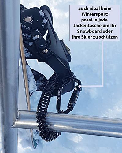 KOHLBURG 180cm extra-langes Zahlenschloss für die Tasche – Kabelschloss 3mm stark als Kinderwagenschloss, Helmschloss, Snowboardschloss & Skischloss - 3