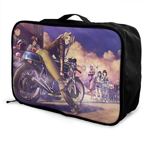 Cafe R Anime Girl Travel Lage Duffel Bag for Women Men Kids, Waterproof Large Bapa Caity Lightweight Suitcase Portable Bags