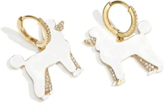 MISASHA Fashion Jewelry Cute Enamel Poodle Dog CZ...