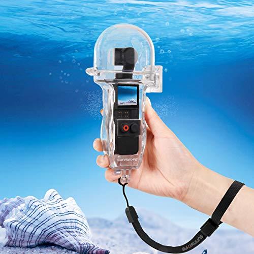 iEago RC Custodia subacquea IP57 Impermeabile 60 metri Portatile Cover protettiva con Fotografia Pulsante di controllo per DJI OSMO Pocket Accessori