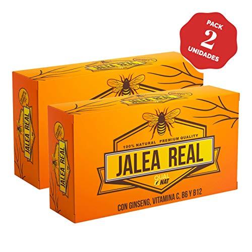 Jalea Real con Ginseng Rojo | Vitamina C | Vitaminas B6 y B12 | Refuerza el Organismo (40 AMPOLLAS)- Qualnat