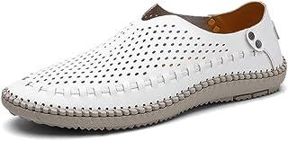 XZHFC Chaussures Respirantes Confortables pour Hommes, Chaussures De Printemps Et d'automne,White-40-255mm