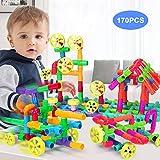 Kid Building Blocks Giocattoli fai-da-te 170 pezzi, Giocattoli per bambini in età prescolare,Sviluppo del QI iniziale per bambini, Giocattoli educativi per ragazzi e ragazze, Bambini piccoli e su