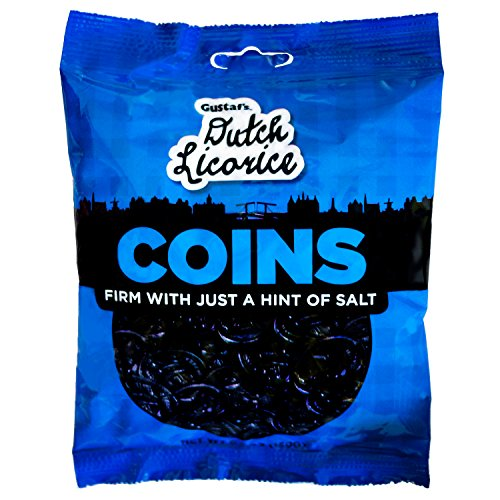 Gustaf#039s Dutch Licorice Coins 52Ounce Bags Pack of 12